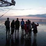Familie zeilzwerftocht met kinderen in augustus